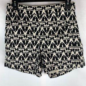 Cartonnier black print high waist shorts, 4